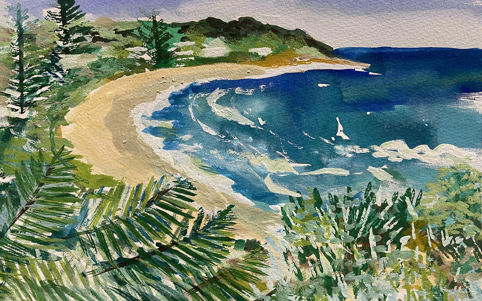 Boomerang-Beach-Watercolour